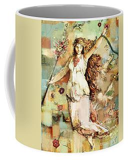 Coffee Mug featuring the mixed media Ostara by Carrie Joy Byrnes