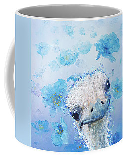 Ostrich In A Field Of Poppies Coffee Mug
