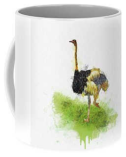 Ostrich - Watercolor Coffee Mug