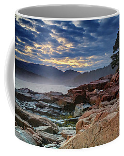 Otter Cove In The Mist Coffee Mug by Rick Berk