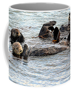 Coffee Mug featuring the photograph Otter Family by AJ Schibig