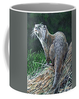 Otter On Branch Coffee Mug