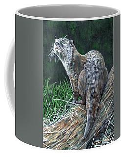 Otter On Branch Coffee Mug
