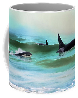 Our Family - Orca Whale Art Coffee Mug