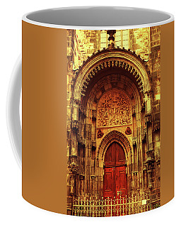 Coffee Mug featuring the photograph Our Lady Before Tyn 1. Architecture. Series Golden Prague by Jenny Rainbow