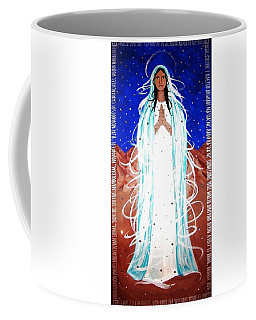 Coffee Mug featuring the painting Our Lady Of Lucid Dreams by Michelle Dallocchio