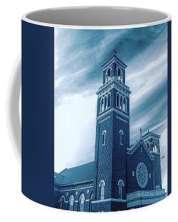 Our Lady Of Sorrows Under Wispy Skies Coffee Mug