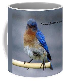 Our Own Mad Blue Bird Coffee Mug by Betty Pieper