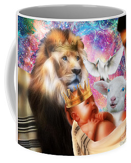 Coffee Mug featuring the digital art Our Saviors Birth by Dolores Develde