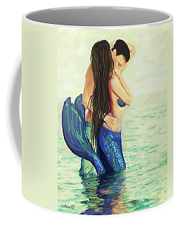 Coffee Mug featuring the painting Our Treasured Love by Leslie Allen