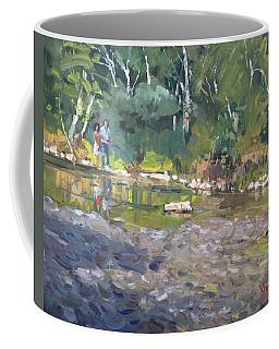 Out Fishing With Viola  Coffee Mug