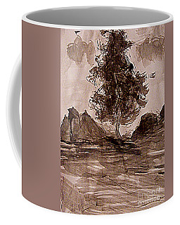 Coffee Mug featuring the painting Out Here Being A Tree by Nancy Kane Chapman
