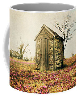 Coffee Mug featuring the photograph Outhouse by Julie Hamilton