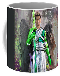 Coffee Mug featuring the digital art Out Of Darkness by Suzanne Silvir