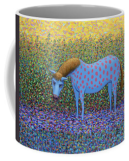 Coffee Mug featuring the painting Out Of The Pasture by James W Johnson