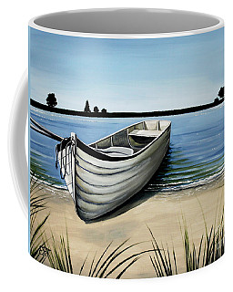 Out On The Water Coffee Mug by Elizabeth Robinette Tyndall