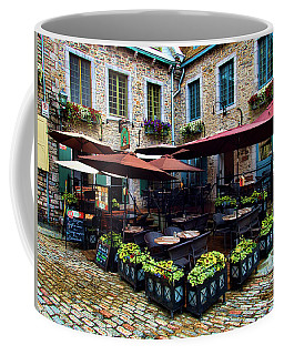 Outdoor French Cafe In Old Quebec City Coffee Mug