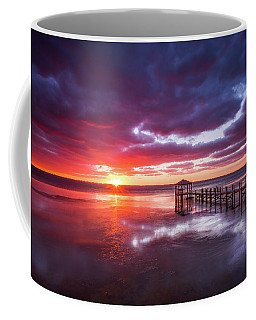 Outer Banks Duck North Carolina Sunset Seascape Photography Obx Coffee Mug