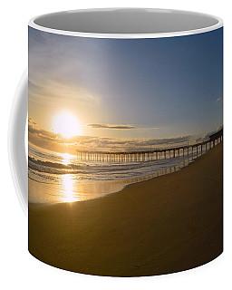 Outer Banks Pier Sunrise Coffee Mug