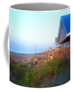 Coffee Mug featuring the photograph Outerbanks Sunrise At The Beach by Sandi OReilly