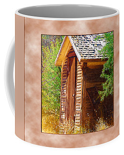 Coffee Mug featuring the photograph Outhouse 1 by Susan Kinney