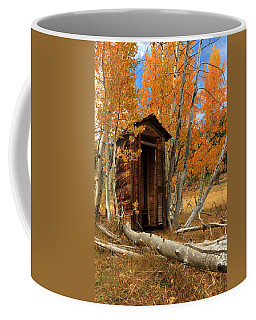 Outhouse In The Aspens Coffee Mug by James Eddy