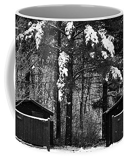 Outhouses In The Cold Coffee Mug