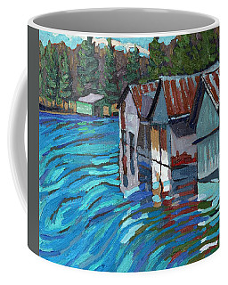 Outlet Row Of Boat Houses Coffee Mug