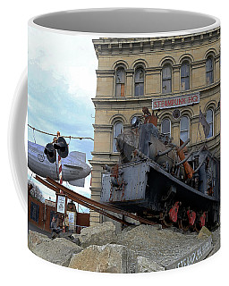 Outside Steam Punk Hq Oamaru Coffee Mug