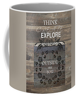 Coffee Mug featuring the mixed media Outside The Box by Robin-Lee Vieira