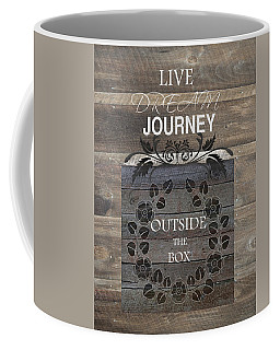 Coffee Mug featuring the photograph Outside The Box Too by Robin-Lee Vieira