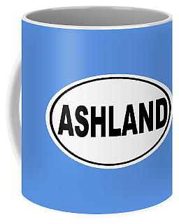 Coffee Mug featuring the photograph Oval Ashland Oregon Or Ohio Home Pride by Keith Webber Jr
