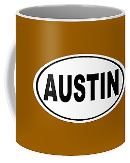 Coffee Mug featuring the photograph Oval Austin Texas Home Pride by Keith Webber Jr