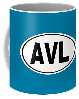 Coffee Mug featuring the photograph Oval Avl Asheville North Carolina Home Pride by Keith Webber Jr