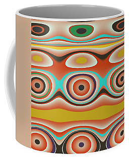 Ovals And Circles Pattern Design Coffee Mug by Jessica Wright