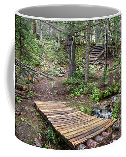 Coffee Mug featuring the photograph Over The Bridge And Through The Woods by James BO Insogna