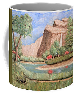 Over The Cliff Coffee Mug