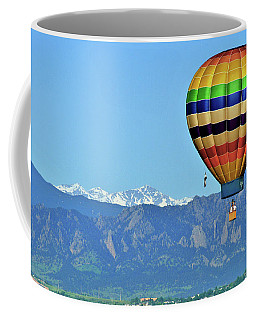 Over The Flatirons Coffee Mug by Scott Mahon