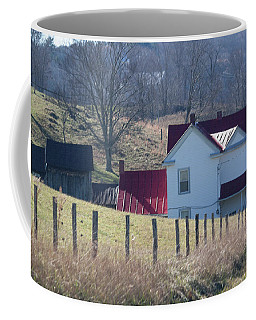 Over The Hill And Down The Road - Pastel Coffee Mug