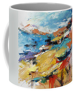 Coffee Mug featuring the painting Over The Hills And Far Away by Elise Palmigiani