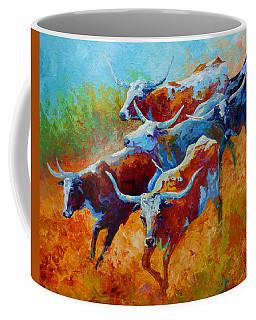 Over The Ridge - Longhorns Coffee Mug