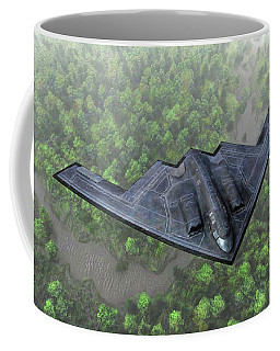 Over The River And Through The Woods In A Stealth Bomber Coffee Mug