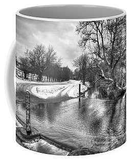 Overflowing River In Black And White Coffee Mug