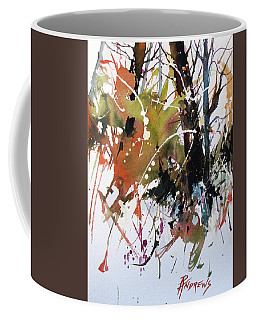 Coffee Mug featuring the painting Overgrown 2 by Rae Andrews