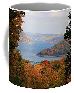Coffee Mug featuring the photograph Overlooking Kinzua Lake by Rick Morgan