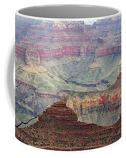 Coffee Mug featuring the photograph Overlooking The Grand Canyon by Debby Pueschel