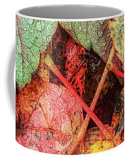 Overnight Rain Leaves Coffee Mug