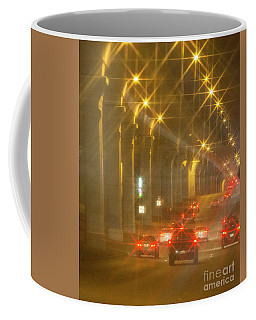 Coffee Mug featuring the photograph Overpass Traffic by Linda Phelps