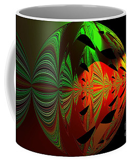 Art Green, Red, Black Coffee Mug