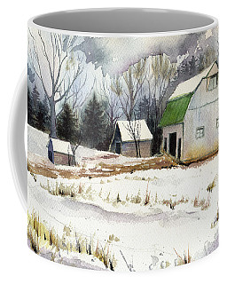 Coffee Mug featuring the painting Owen County Winter by Katherine Miller